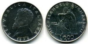 500 Lira Italia Plata