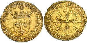 1 Экю Королевство Франция (843-1791) Золото Франциск I король Франции (1494 - 1547)
