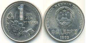 1 Yuan China Nickel/Steel