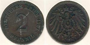 2 Pfennig Allemagne Bronze