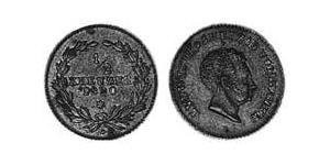 1/2 Kreuzer Grand Duchy of Baden (1806-1918) Kupfer Ludwig I. (Baden)(1763 - 1830)
