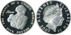 5 Pound United Kingdom (1922-) Billon