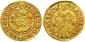 1 Дукат Габсбургская империя (1526-1804) Золото Рудольф II (1552 - 1612)