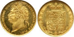 2 Фунт Сполучене королівство Великобританії та Ірландії (1801-1922) Золото Георг IV (1762-1830)