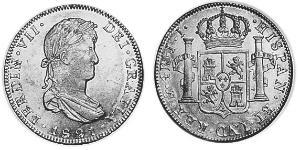 4 Real Spanish Mexico  / Kingdom of New Spain (1519 - 1821) Silver Ferdinand VII of Spain (1784-1833)