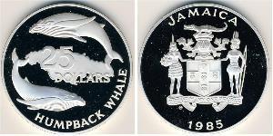 25 Dollar Jamaika (1962 - ) Silber