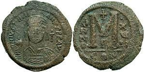 Follis Empire byzantin (330-1453) Bronze Justinien I (482-565)