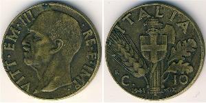 10 Centesimo 意大利王國 (1861-1946) 青铜/铝