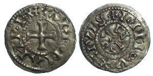Dinaro Reino de Francia (843-1791) Plata Carlomán I (751- 771)