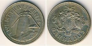 25 Cent Barbados Rame/Nichel