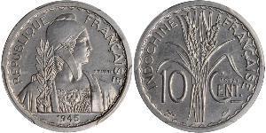 10 Цент Французский Индокитай (1887-1954) Алюминий