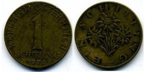 1 Shilling Republic of Austria (1955 - ) Bronze/Aluminium