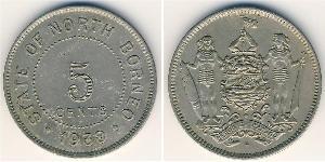 5 Цент Северное Борнео (1882-1963)