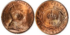 1 Cent Terranova e Labrador  Edoardo VII (1841-1910)