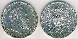 5 Марка Німецька імперія (1871-1918) Срібло