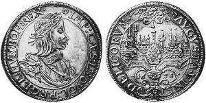 1 Талер Аугсбург (1276 - 1803) Срібло Леопольд I Габсбург(1640-1705)