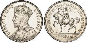 1 Флорин Австралия (1939 - ) Серебро Георг V (1865-1936)