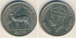 1/2 Rupee Mauritius Copper/Nickel