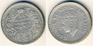 1/4 Rupee Raj Britannico (1858-1947) Argento Giorgio VI (1895-1952)