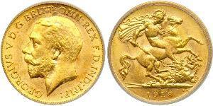 1/2 Соверен Австралія (1788 - 1939) Золото Георг V (1865-1936)