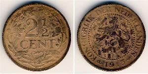 2.5 Cent Regno dei Paesi Bassi (1815 - ) Bronzo
