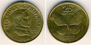25 Centimo Philippines Laiton