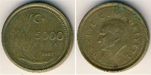 5000 Lira Turquía (1923 - )