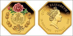 28 Dólar Australia (1939 - ) Oro Isabel II (1926-)