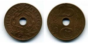 25 Centimo Second Spanish Republic (1931 - 1939) Copper