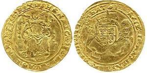 1/2 Sovereign Reino de Inglaterra (927-1649,1660-1707) Oro Enrique VIII (1491 - 1547)