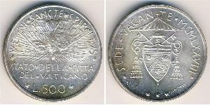 500 Lira Vatikan (1926-) Silber