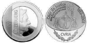 25 Euro Luxemburgo Plata