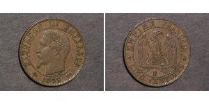 5 Centime Secondo Impero francese (1852-1870) Bronzo Napoleone III (1808-1873)