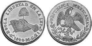 4 Эскудо Second Federal Republic of Mexico (1846 - 1863) Золото