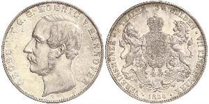 3.5 Гульден / 2 Талер Ганновер (королевство) (1814 - 1866) Серебро Георг V (король Ганновера) (1819 - 1878)