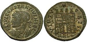 1 Follis /  AE3 Imperio romano de Occidente (285-476) Bronce Constancio II (317 - 361)