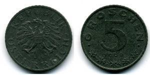 5 Грош Оккупированная Австрия (1945-1955) Цинк