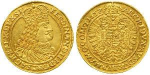 1 Ducat Saint-Empire romain germanique (962-1806) / Ååstenrik Or Ferdinand III, Holy Roman Emperor (1608-1657)