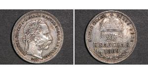 20 Крейцер Австро-Венгрия (1867-1918) Серебро Франц Иосиф I (1830 - 1916)