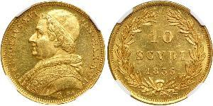 10 Soldo Papal States (752-1870) Gold Pope Gregory XVI