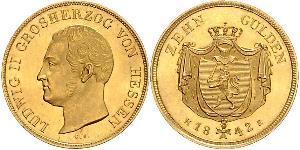 10 Gulden Großherzogtum Hessen (1806 - 1918) Gold Ludwig II. (Hessen-Darmstadt)