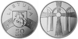 50 Litas Lituanie (1991 - ) Argent