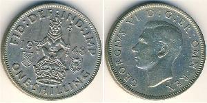1 Шиллинг Великобритания (1922-) Никель/Медь Георг VI (1895-1952)