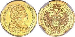1 Дукат Священная Римская империя (962-1806) Золото Карл VI император Св. Римской империи (1685-1740)
