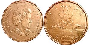 1 Dollaro Canada Bronzo Elisabetta II (1926-)
