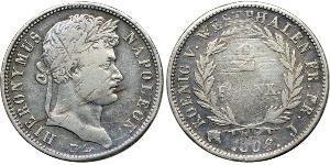 2 Franc States of Germany Plata Napoleón Bonaparte(1769 - 1821)