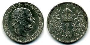 1 Krone 奥匈帝国 (1867 - 1918) 銀