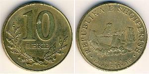 10 Lek Albanien Messing
