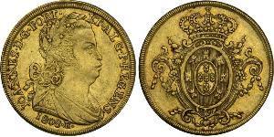 6400 Reis Brésil Or Jean VI de Portugal (1767-1826)