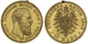 10 Mark Kingdom of Prussia (1701-1918) Gold Frederick William III of Prussia (1770 -1840)